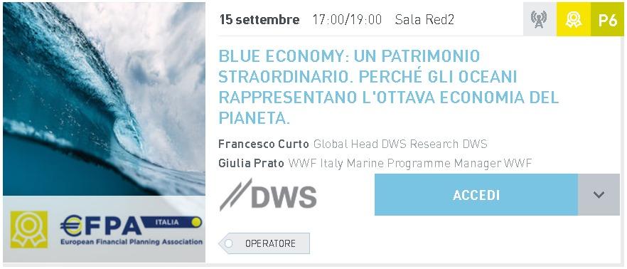 BLUE ECONOMY: UN PATRIMONIO STRAORDINARIO.<br>PERCHÉ GLI OCEANI RAPPRESENTANO L'OTTAVA – ECONOMIA DEL PIANETA.